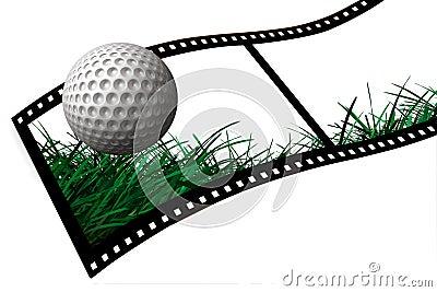 Golf Ball film strip