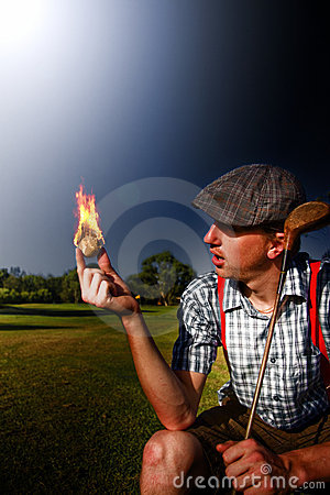 Free Golf Ball Flames Stock Photo - 18528750
