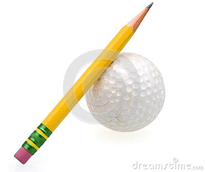 how to draw a golf ball with a pencil