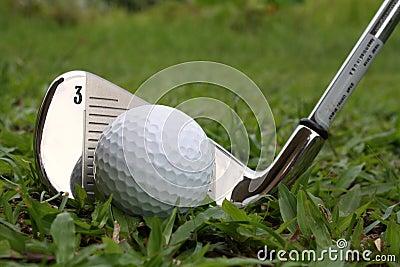 Golf ball and golf iron club