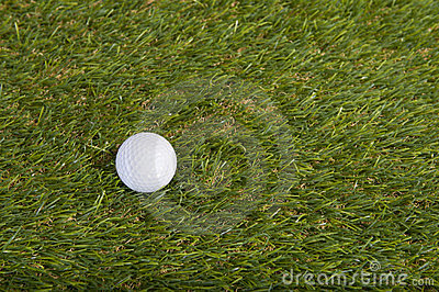 Golf ball on grass field
