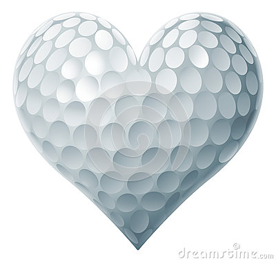 Free Golf Ball Heart Stock Photography - 52786222