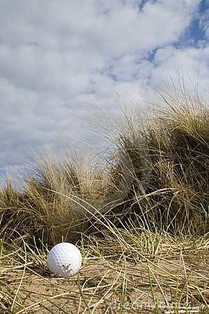 Free Golf Ball In Dunes 2 Stock Images - 711234