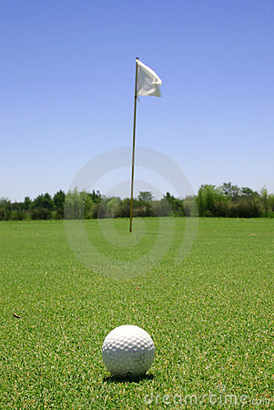 Free Golf Ball In The Green Stock Photos - 2802553