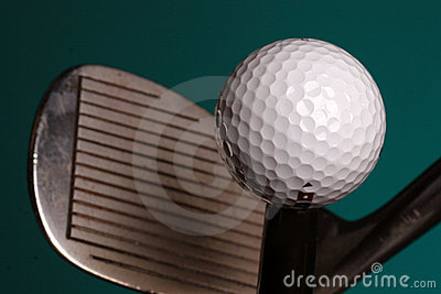 Golf ball and iron