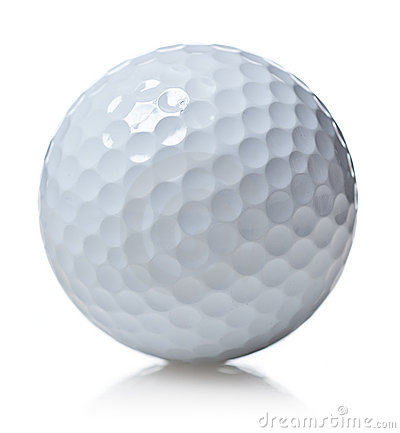 Free Golf Ball Isolated On White Stock Image - 10601631