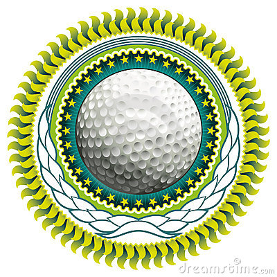 Golf ball label.