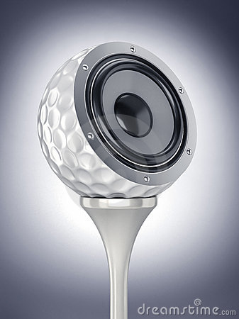 Golf ball with music
