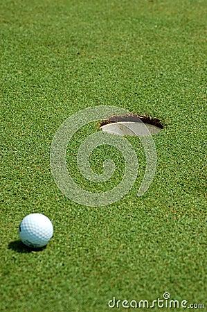 Free Golf Ball Near Hole Royalty Free Stock Image - 1036176