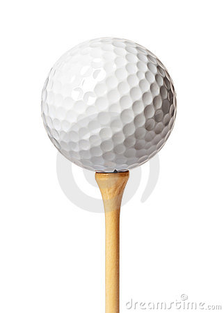 Free Golf Ball On A Tee Stock Image - 8198451