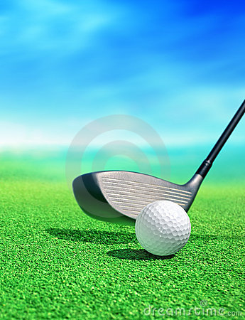 Free Golf Ball On Course Royalty Free Stock Photography - 15973627