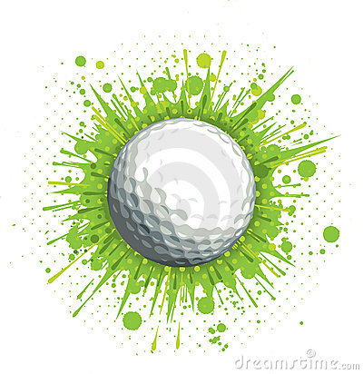 Free Golf Ball On Green Background Stock Photography - 20574652
