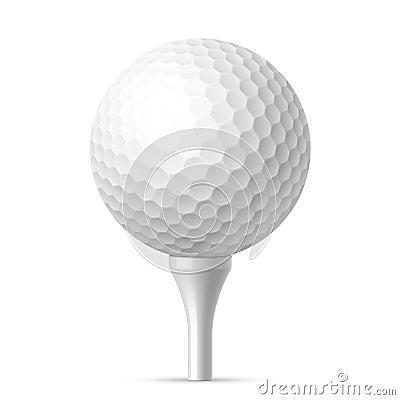 Free Golf Ball On White Tee Stock Photo - 45979880