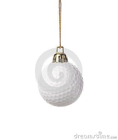 Golf-ball ornament