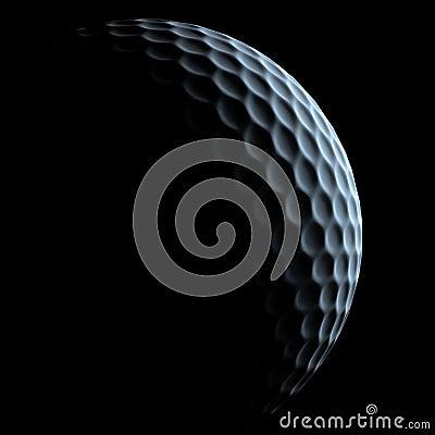 Golf ball over dark background