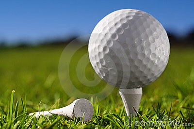 Golf ball on peg