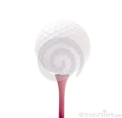 Golf Ball on Pink Tee