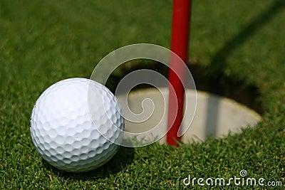 Golf Ball on Practice Hole