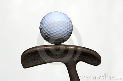 Golf ball and putter