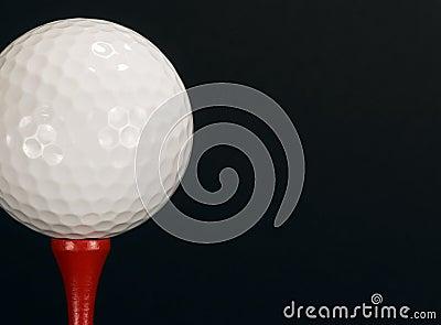 Golf Ball Red Tee - horizontal