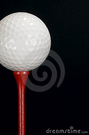 Golf Ball Red Tee - vertical