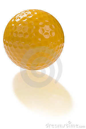 Golf ball with reflection