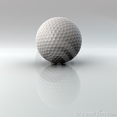 Golf ball with reflection and alpha