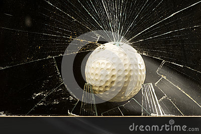 Golf Ball Shattering Glass