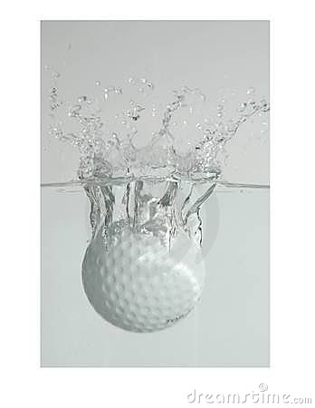 Free Golf Ball Splash Royalty Free Stock Image - 62756