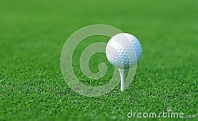 Golf ball on start position