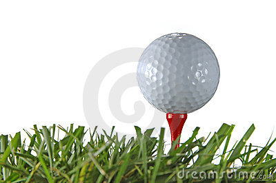 Golf Ball and Tee