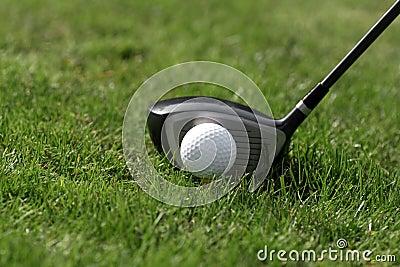 Golf ball tee - drive grass