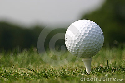 Golf Ball on Tee (real Golf course)