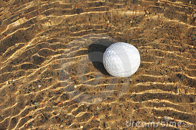 Golf Ball in a Water Hazard