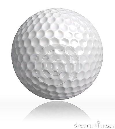 Cheetah Fur Close Up Golf Ball On White Bac...