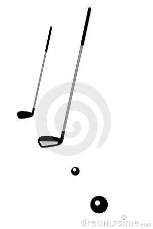 Free Golf Balls,golf Staff Isolated Royalty Free Stock Images - 6923199
