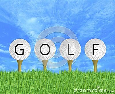 Golf Balls Sign