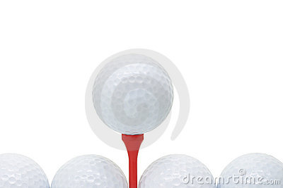Golf balls with tee