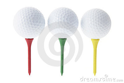 Golf Balls on Tees