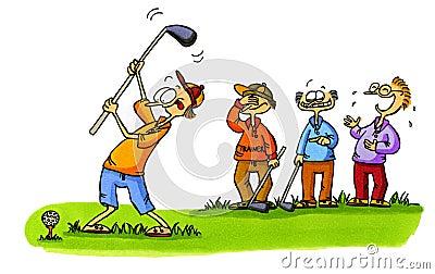 Golf beginner - Golf Cartoons Series Number 1