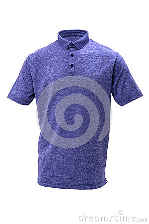 Free Golf Blue And White Tee Shirt For Man Or Woman Stock Photos - 89058843