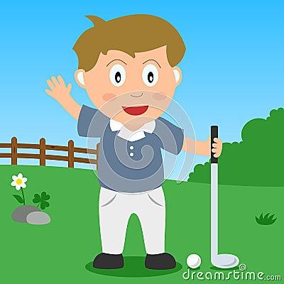 Golf Boy in the Park