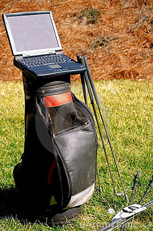 Golf and Business Laptop