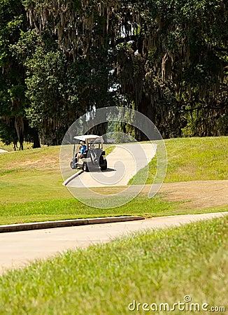 Golf Cart going off Cart Path