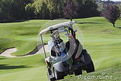 Golf Cart headed to green