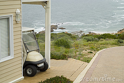 Golf cart at holiday home