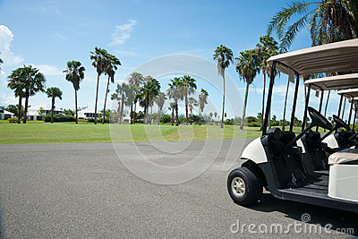 Golf carts at the course.