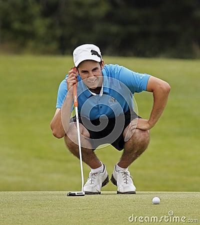Golf Chad MacMillan Putt Line Editorial Stock Image