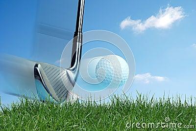 Golf Club Hitting Ball Stock Photography - Image: 1815182 Golf Ball On Tee Clipart
