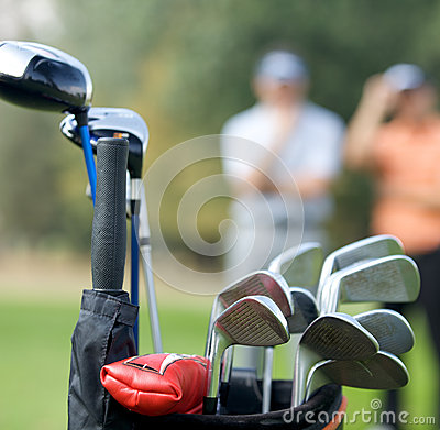 Free Golf Clubs In Bag At Golf Course Royalty Free Stock Image - 53756216